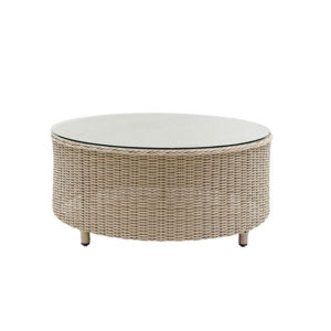 Auckland Luna Round Coffee Table with Glass