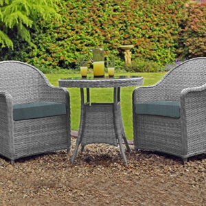 Bistro Set (Pale Grey/Teal)
