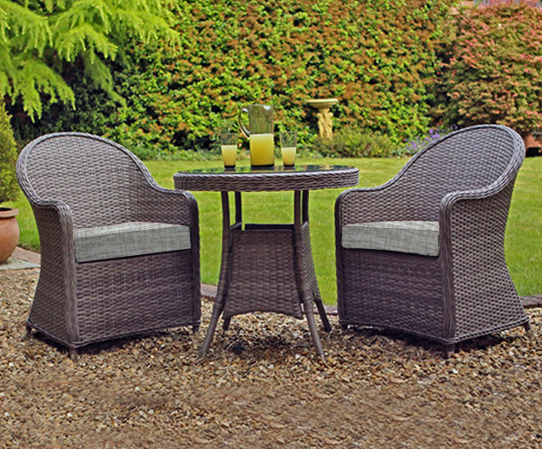 Bistro Set (Dark Grey/Beige)