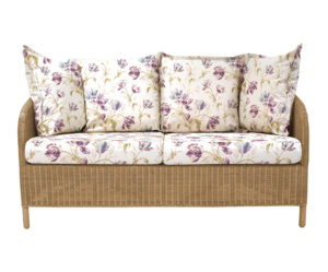 Laura Ashley Rattan Arley Sofa Gosford Plum