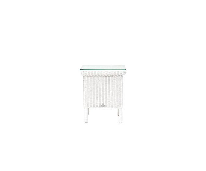 Laura-Ashley-Rattan-Furniture-Wilton-White-Side Table