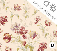 Laura Ashley Gosford Cranberry - Swatch Sample
