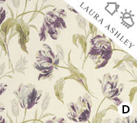 Laura Ashley Gosford Plum - Swatch Sample