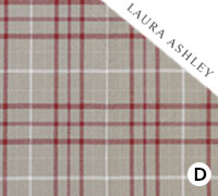 Laura Ashley Keynes Cranberry - Swatch Sample