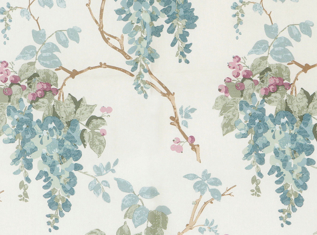 Laura Ashley Wisteria Duck Egg - Swatch Sample