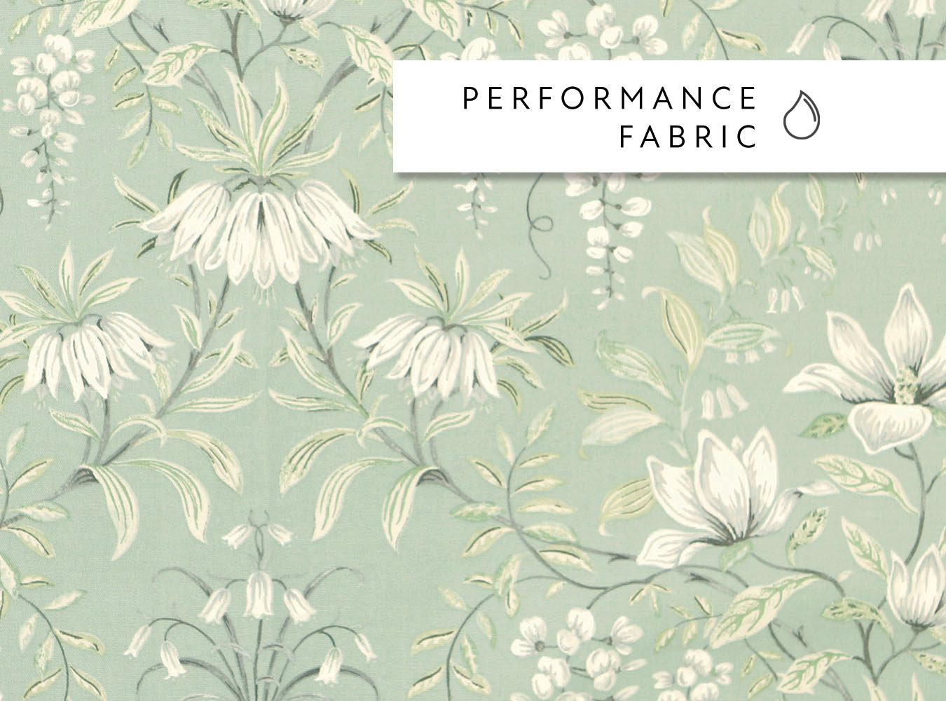 Laura Ashley Parterre Sage - Swatch Sample